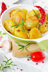 golden fried potatoes