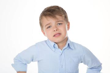 little glum kid