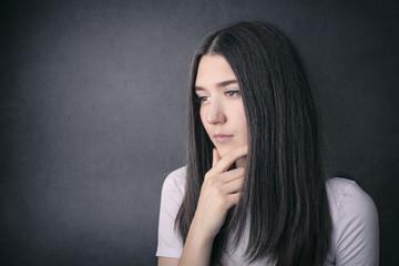 thoughtful girl