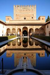 Patio de los Arrayanes, Alhambra de Granada, España