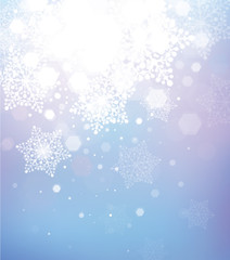 Vector abstract snowflake background.