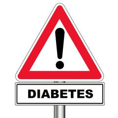 Achtung Schild Diabetis