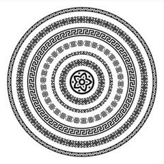 Oriental arabesque pattern background isolated on white