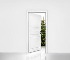 Tür ins Weihnachtszimmer
