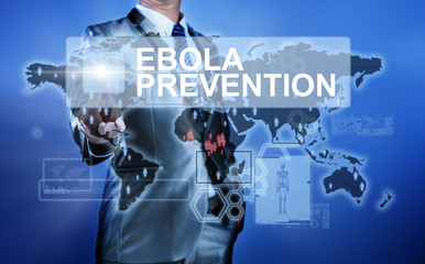 Man in suit making decision on Ebola Prevention