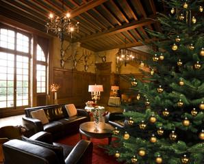 Weihnachtsbaum im Jagdschloss