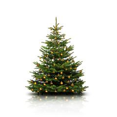 Weihnachtsbaum mit Goldkugeln