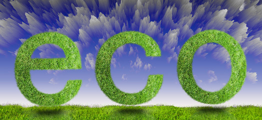 green eco sign