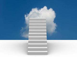 The success ladder. 3d illustration.