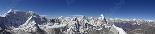 Foto op Canvas Nepal Panorama depuis le sommet de l'Island Peak - 6189 m, Népal