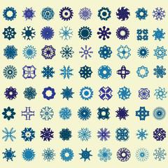 snowflakes set