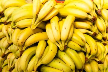 Bananas at market. Background.