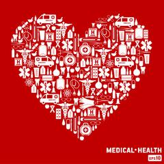 Medical icon background