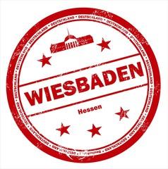 Wiesbaden Hessen Stadt Deutschland Stempel Stamp