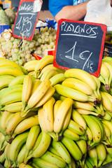 Bananas at fruit market.