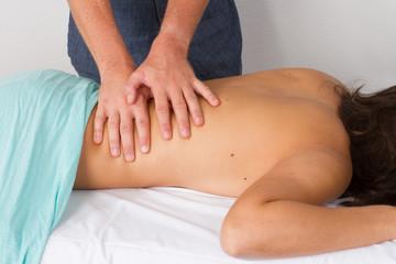 Masseur en massage