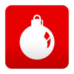Etiqueta tipo app simbolo bola de adorno