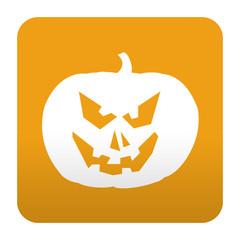 Etiqueta tipo app calabaza de Halloween