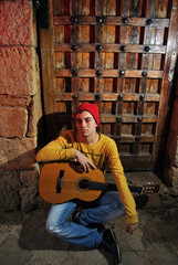 musician with his guitar