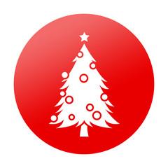 Etiqueta tipo app redonda arbol de navidad