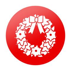 Etiqueta tipo app redonda guirnalda de navidad
