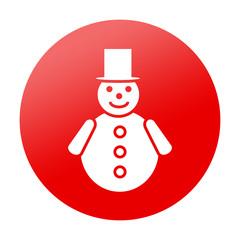 Etiqueta tipo app redonda hombre de nieve