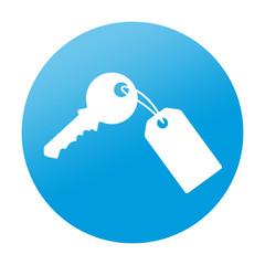 Etiqueta tipo app redonda llave con llavero