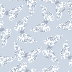 Seamless pattern with butterfly. Cute seamless.