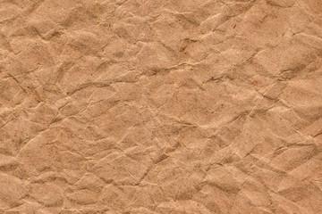 Recycle Coarse Grain Brown Kraft Paper Crumpled Grunge Texture