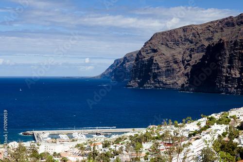 canvas print picture Steilküste bei Los Gigantes, Insel Teneriffa