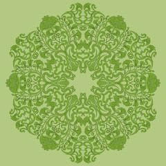 ornamental round lace pattern, circle background