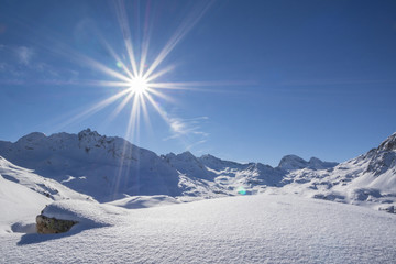 Winter in den Bergen