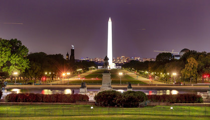 The Mall Smithsonian Washington Monument Nigh Washington DC