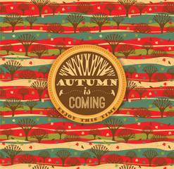 Autumn background. Vector illustration.