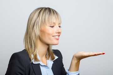 Business Woman Holding