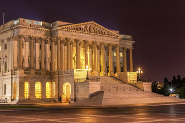 Senate US Capitol North Side  Night Washington DC