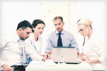 business team having meeting in office