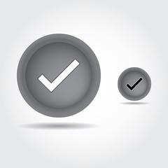 True mark button , Check icon