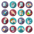 Digital health icons set - 70911326