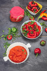 Ajvar, a delicious roasted red pepper dish