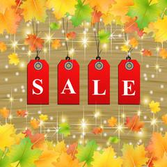 Herbst SSV Sale Hintergrund