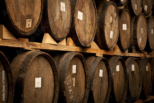 Foto op Canvas Europa Wine barrels