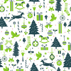 Festive winter pattern