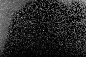 Kunstart: zerbrochene Glasscheibe
