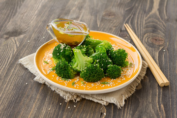 Broccoli with sesame seeds