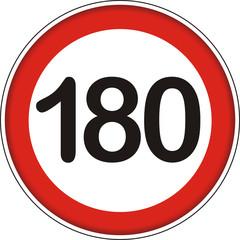Verkehrsschild, 180