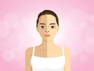 Women double skin colors