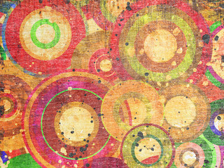 grunge circles abstract background