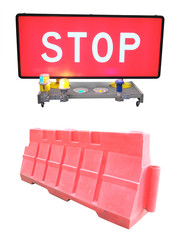 road barrier under the white background