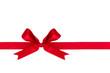 Rote Schleife als Dekoration zu Weihnachten